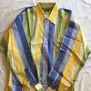 Gitman Bros Button down stripe, cotton, Large